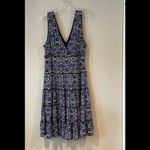 Style and Co fully lined ruffled Dress. EUC